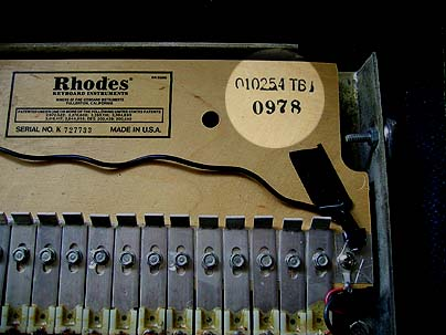 How old is my Rhodes? What year was it made?