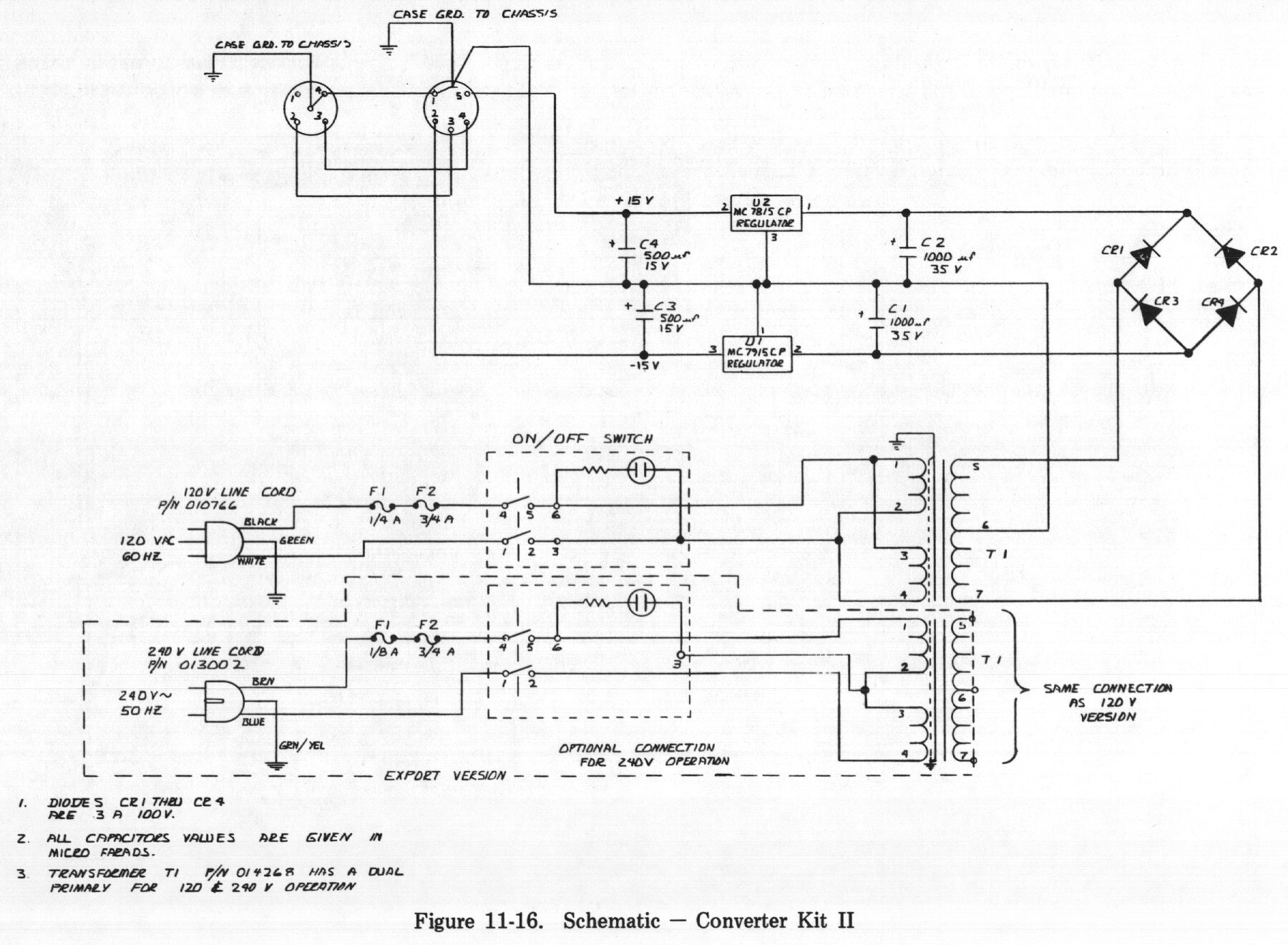 Rhodes Service Manual Table Of Contents Figure 11 Structural Schematic Diagram Transformer 16 Converter Kit Ii