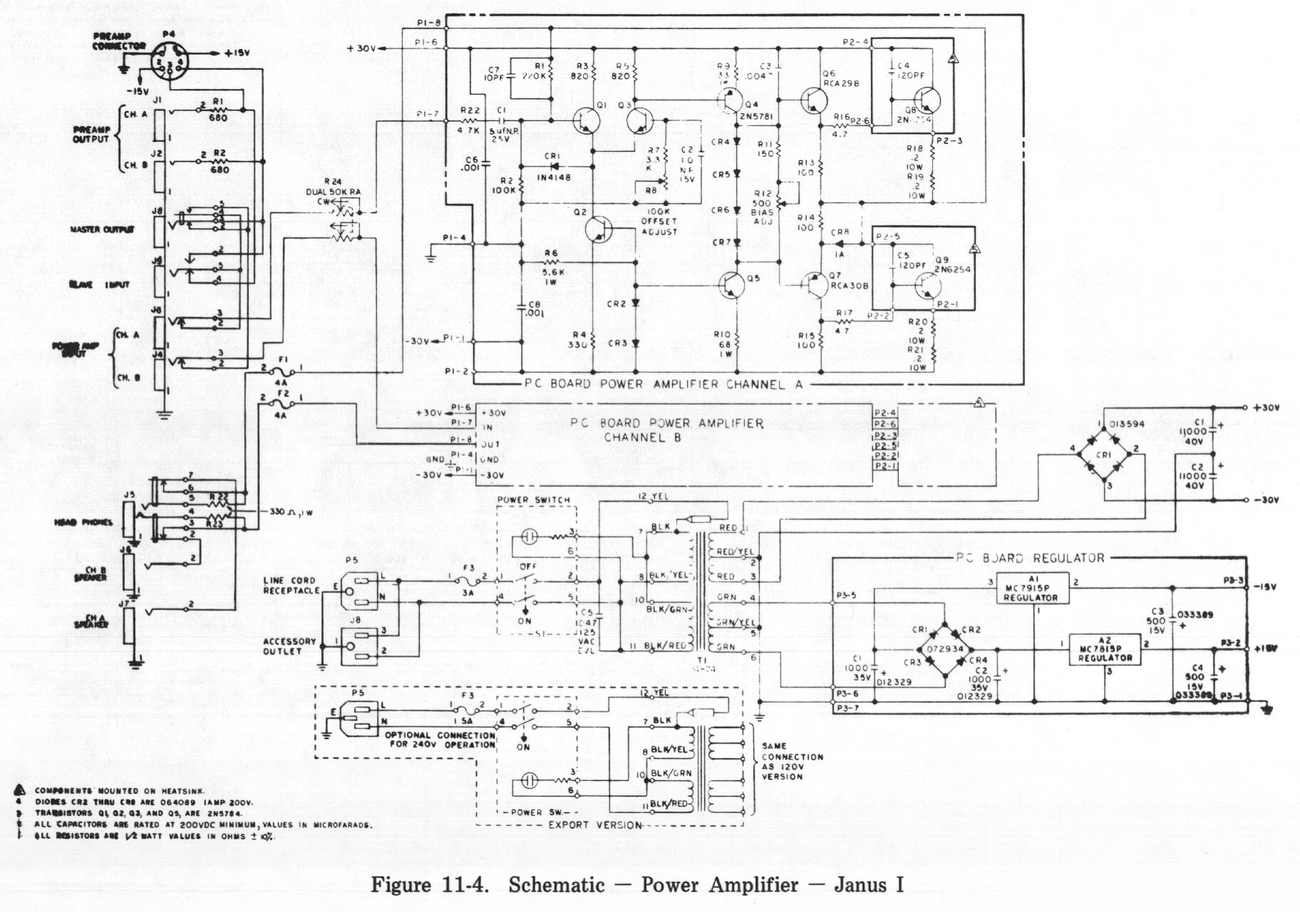 ... Schematic - Power Amplifier - Janus I ...