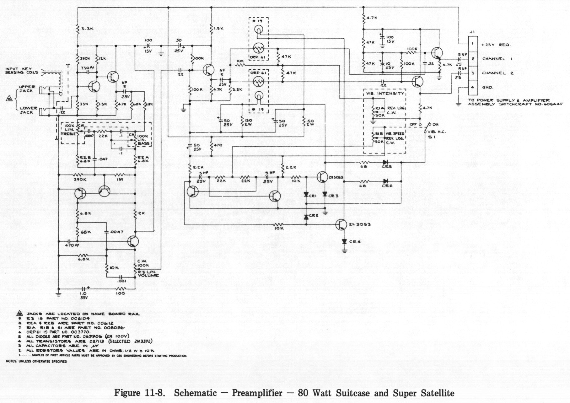 B Amp S Wiring Diagram Database Library Guitar Amplifier Fender Manuals Parts Schematics Bose