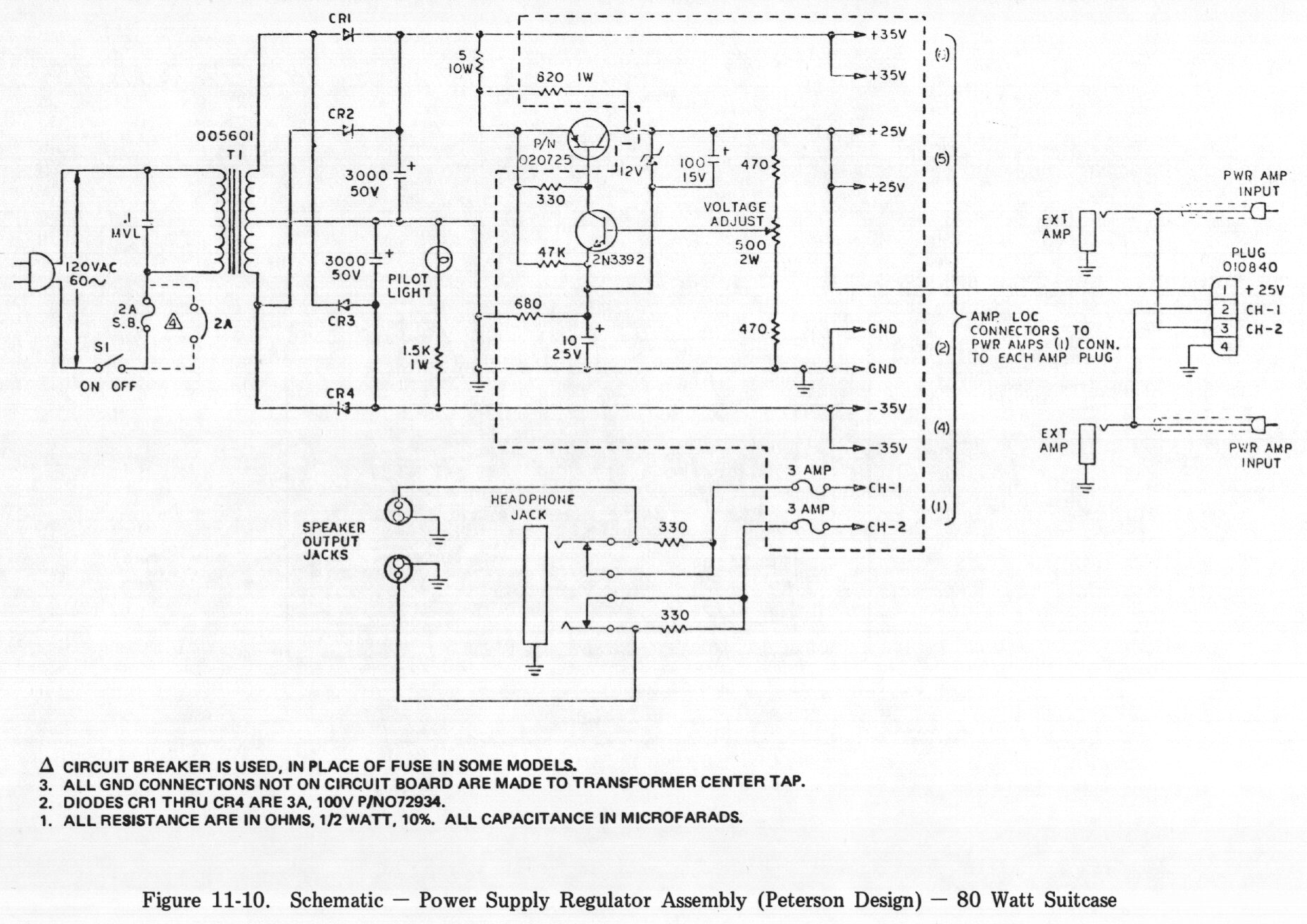 Building My Own Preamp Power Supply Not Working So Far 24volt Dc Regulated With 500 Ma Rating Circuit Diagram Http Fenderrhodescom Ch11 Fig11 10