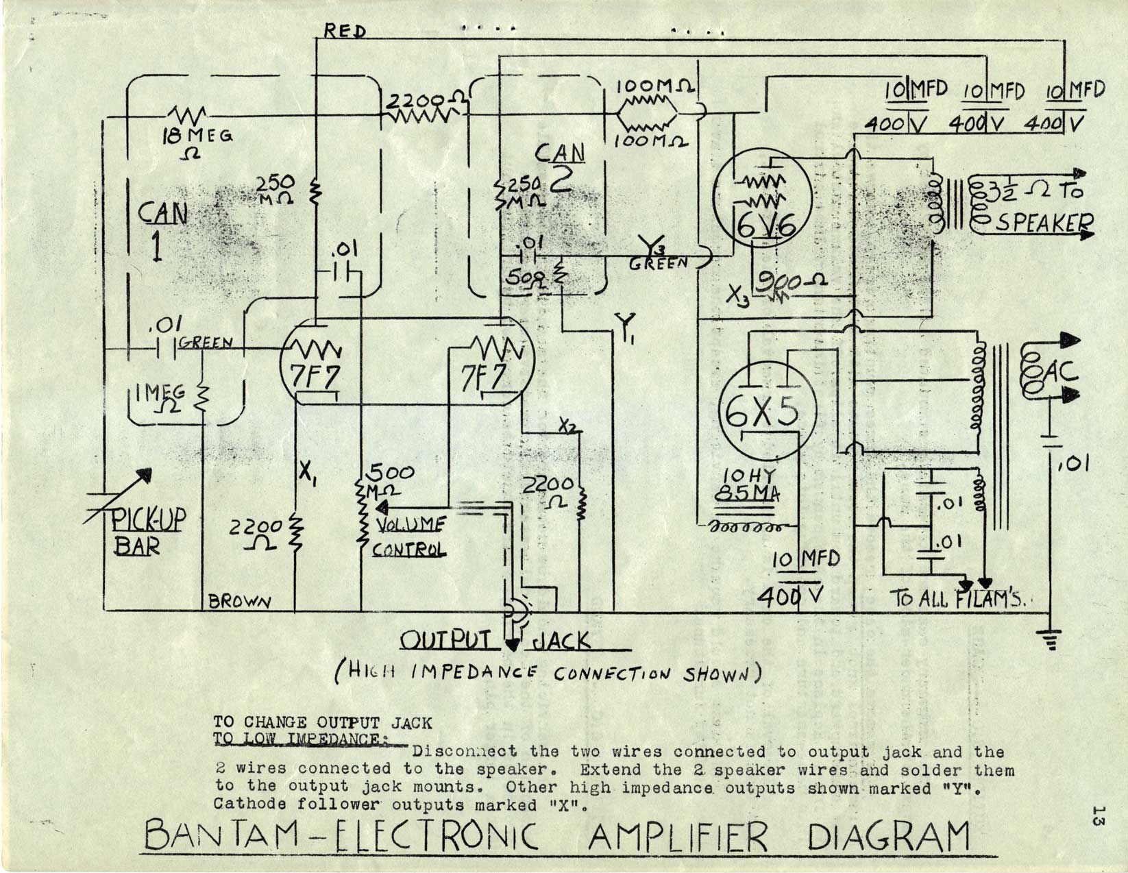 Fender Rhodes Wiring Diagram 28 Images Champ Diagrams Bantam Electronic Amplifier