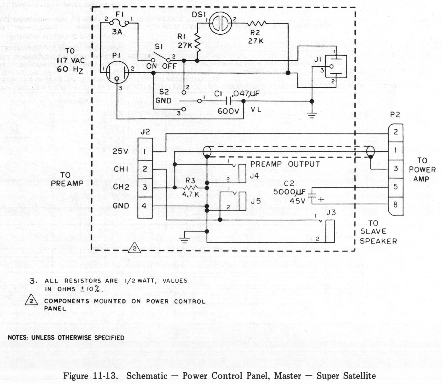 Chapter 11 Diagrams Schematics And Pictorials 2 Watt Amplifier Circuit Schematic Power Control Panel Master Super Satellite