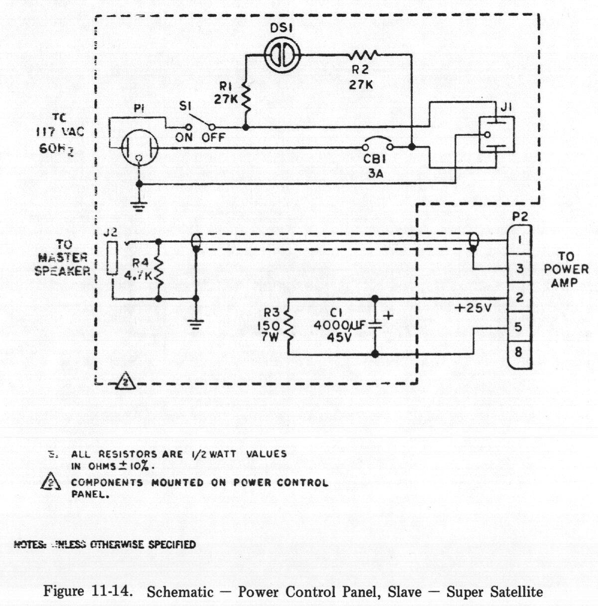 Chapter 11 Diagrams Schematics And Pictorials Amp Schematic Power Control Panel Slave Super Satellite